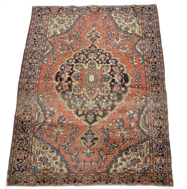 "Persian scatter rug, 4' 8"" x 3' 4"""