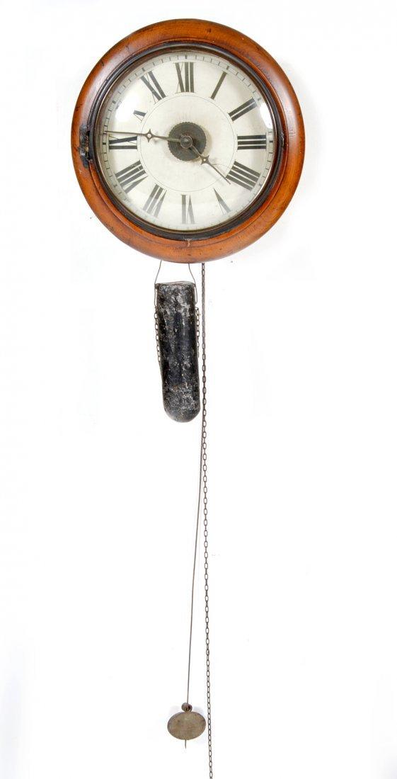 Skeleton clock, wall mounted, alarm function, 19th c