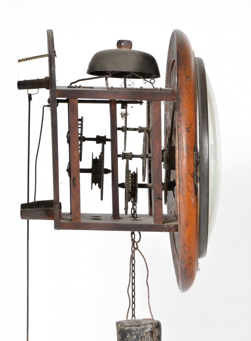 Skeleton clock, wall mounted, alarm function, 19th c - 2