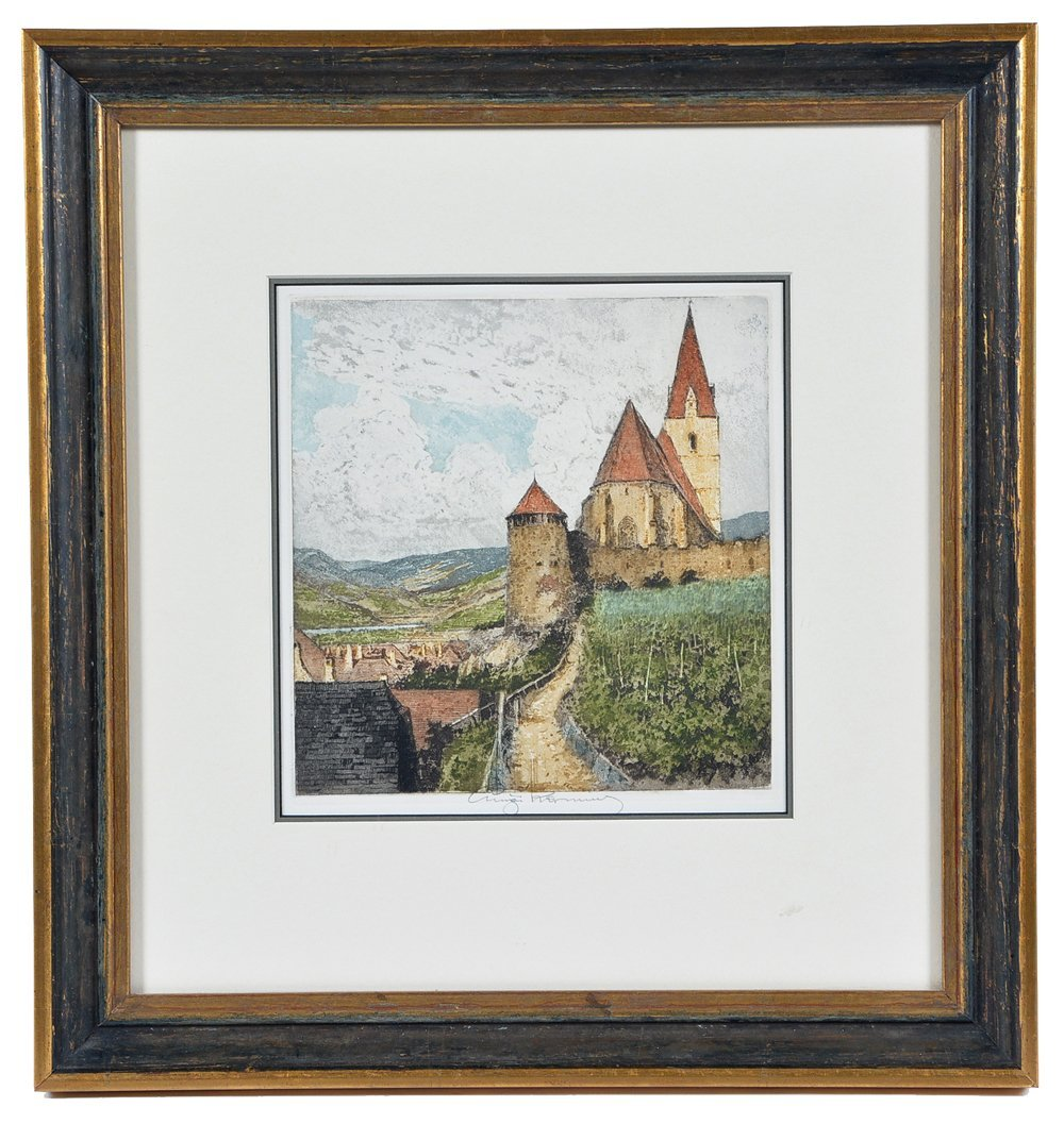 Luigi Kasimir, Weissenkirchen, etching and aquatint,