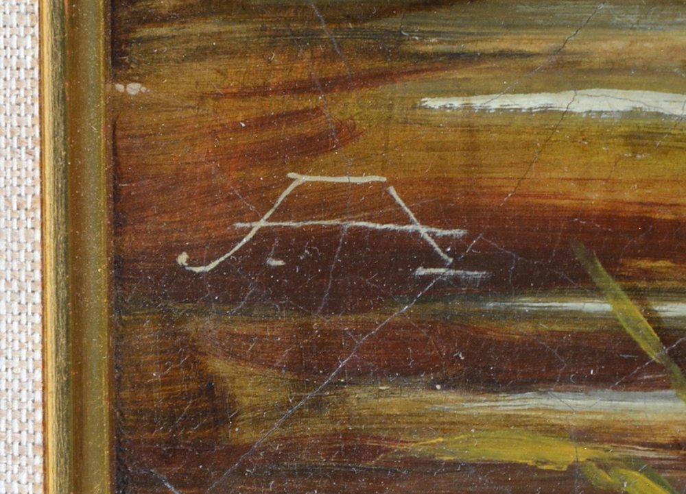 American school painting, American birds, monogram, - 2