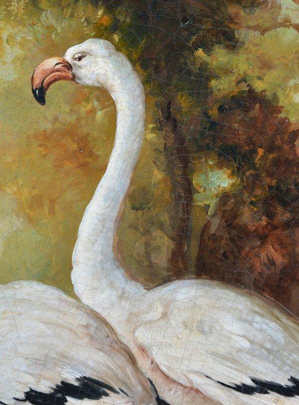 American school painting, American birds, monogram, - 3