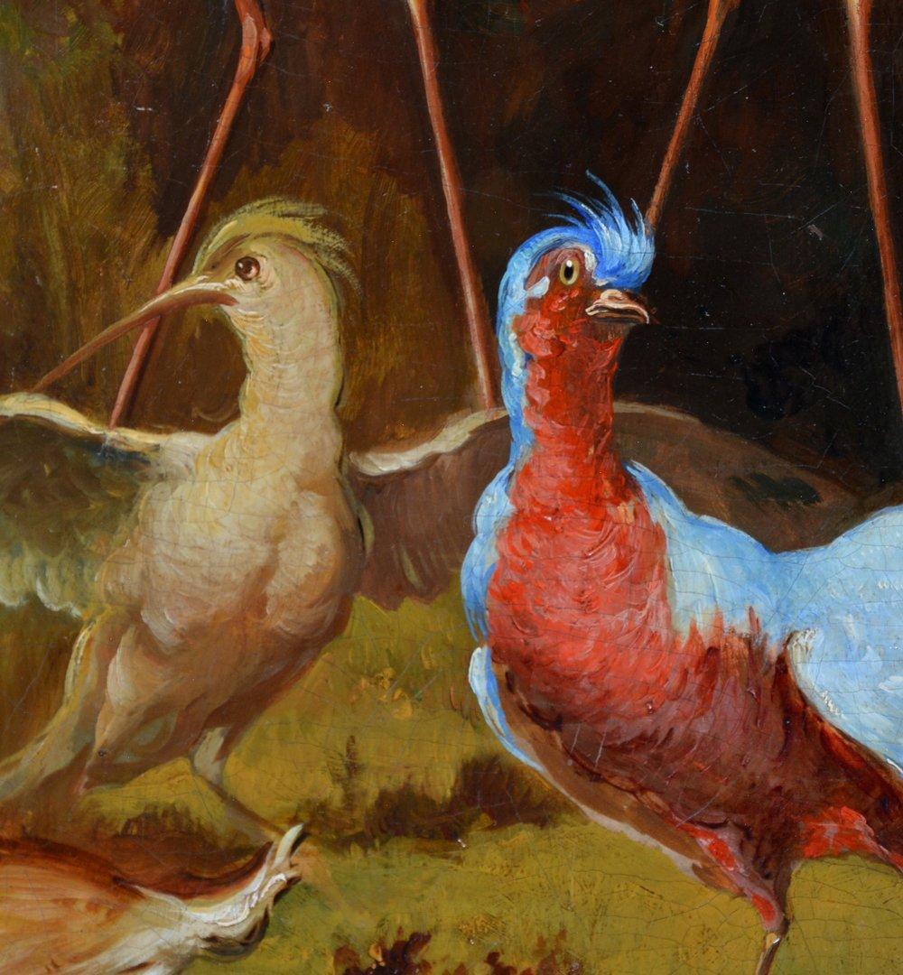 American school painting, American birds, monogram, - 4
