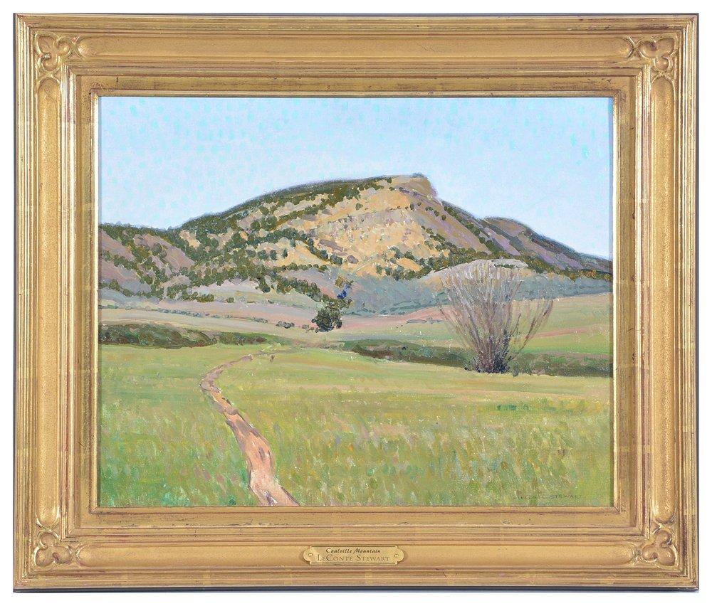 LeConte Stewart, Coalville Mountain , oil on canvas