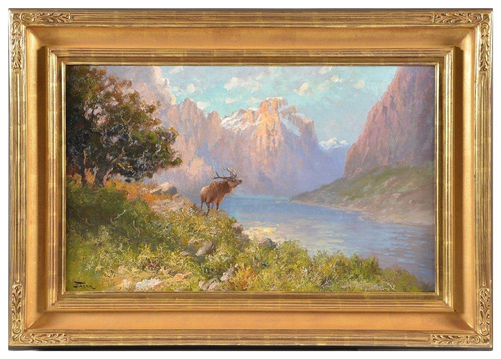 John Fery, Glacier Park Landscape , oil on canvas