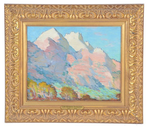 Lee Greene Richards, Mountain Landscape, oil/canvas
