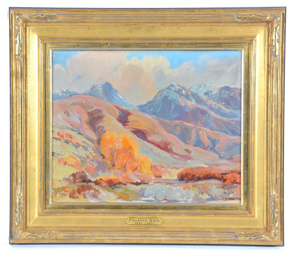 Florence Ware, Mountain Landscape, Autumn, oil/ board