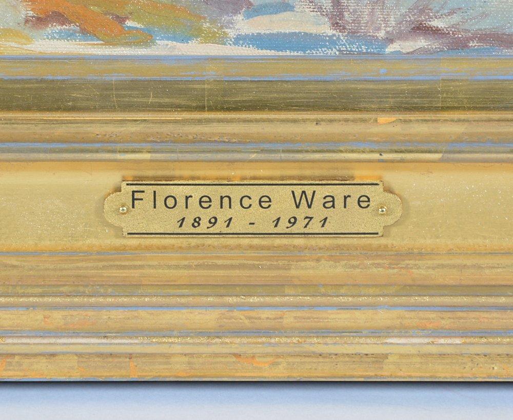 Florence Ware, Mountain Landscape, Autumn, oil/ board - 4
