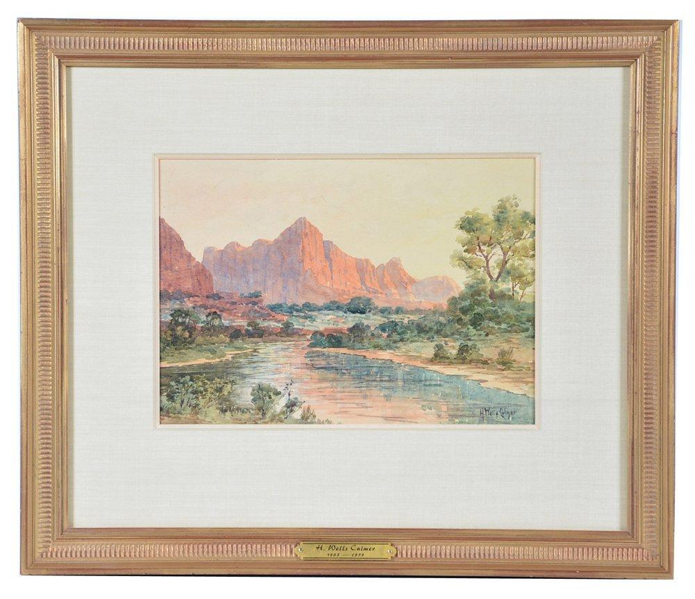 H. Wells Culmer, Zions, Utah , watercolor on paper