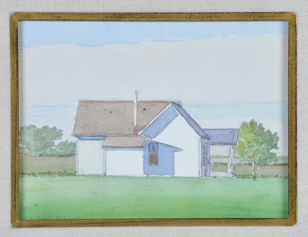 LeConte Stewart (1891-1990), White House , watercolor, - 2