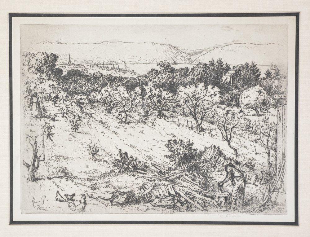Mahonri Young, Chopping Wood, etching - 2