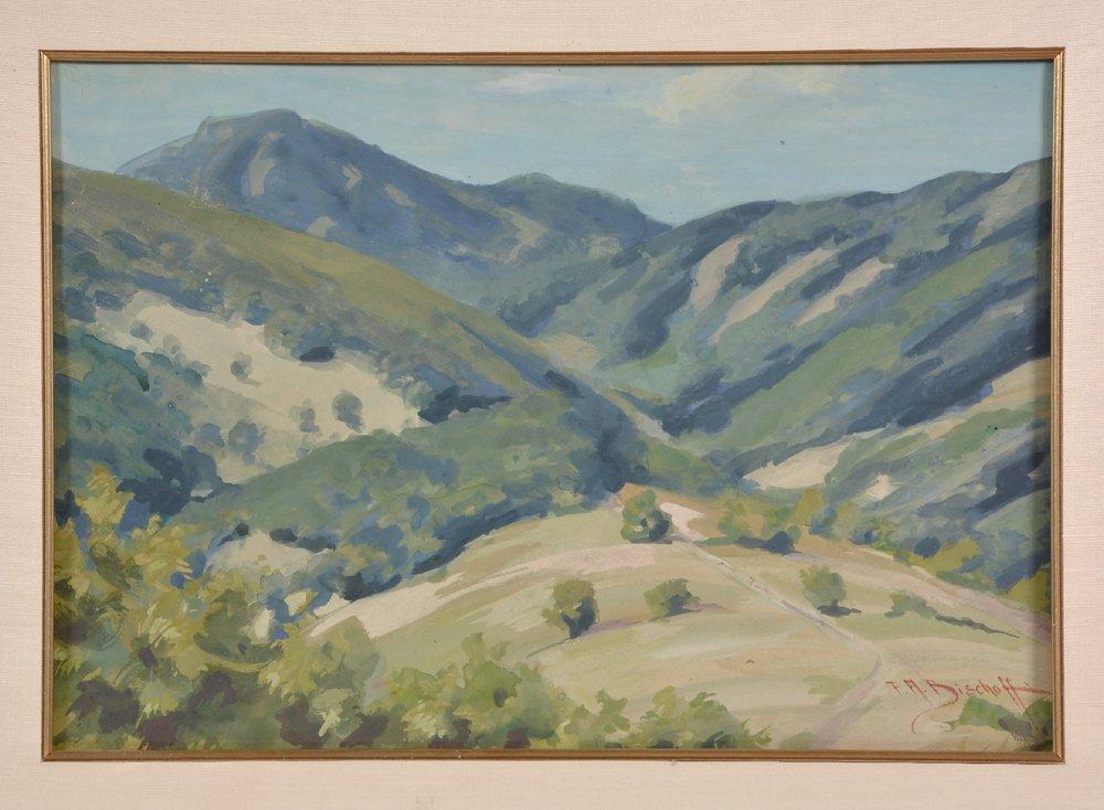 Franz A. Bischoff (1864-1929), Marin Hills, watercolor