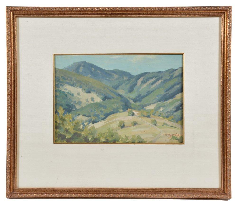 Franz A. Bischoff (1864-1929), Marin Hills, watercolor - 2