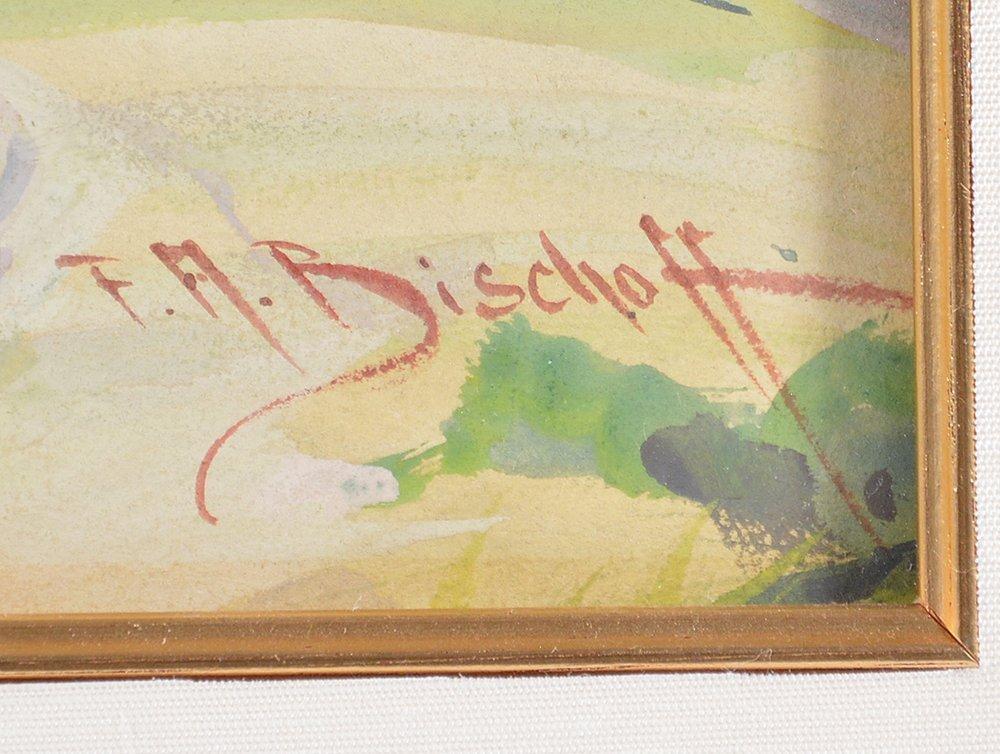 Franz A. Bischoff (1864-1929), Marin Hills, watercolor - 3