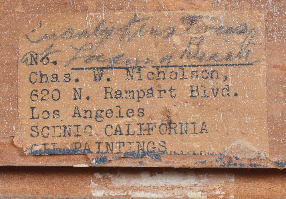 C W Nicholson, Eucalyptus Trees at Laguna Beach,  o/b - 3