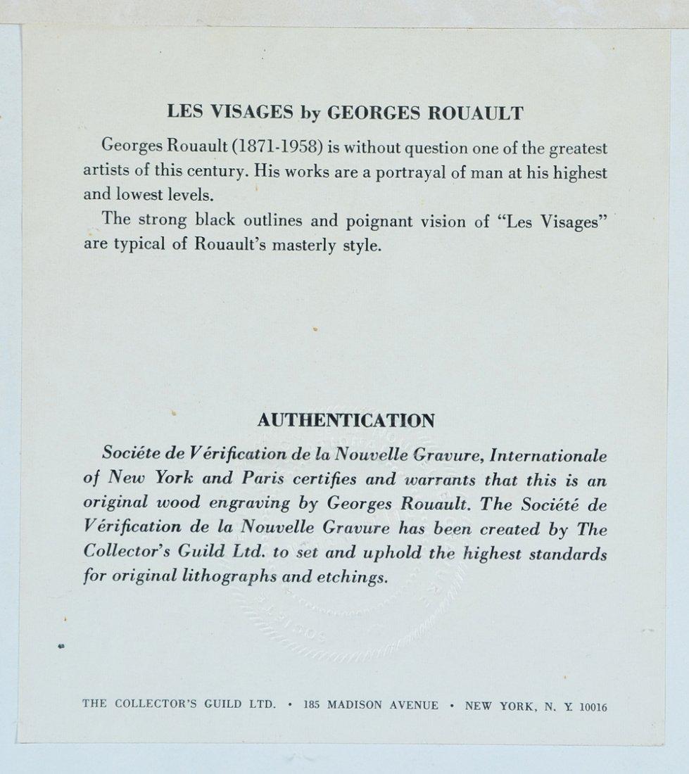 """Georges Rouault engraving, """"Les Visages"""" - 3"""