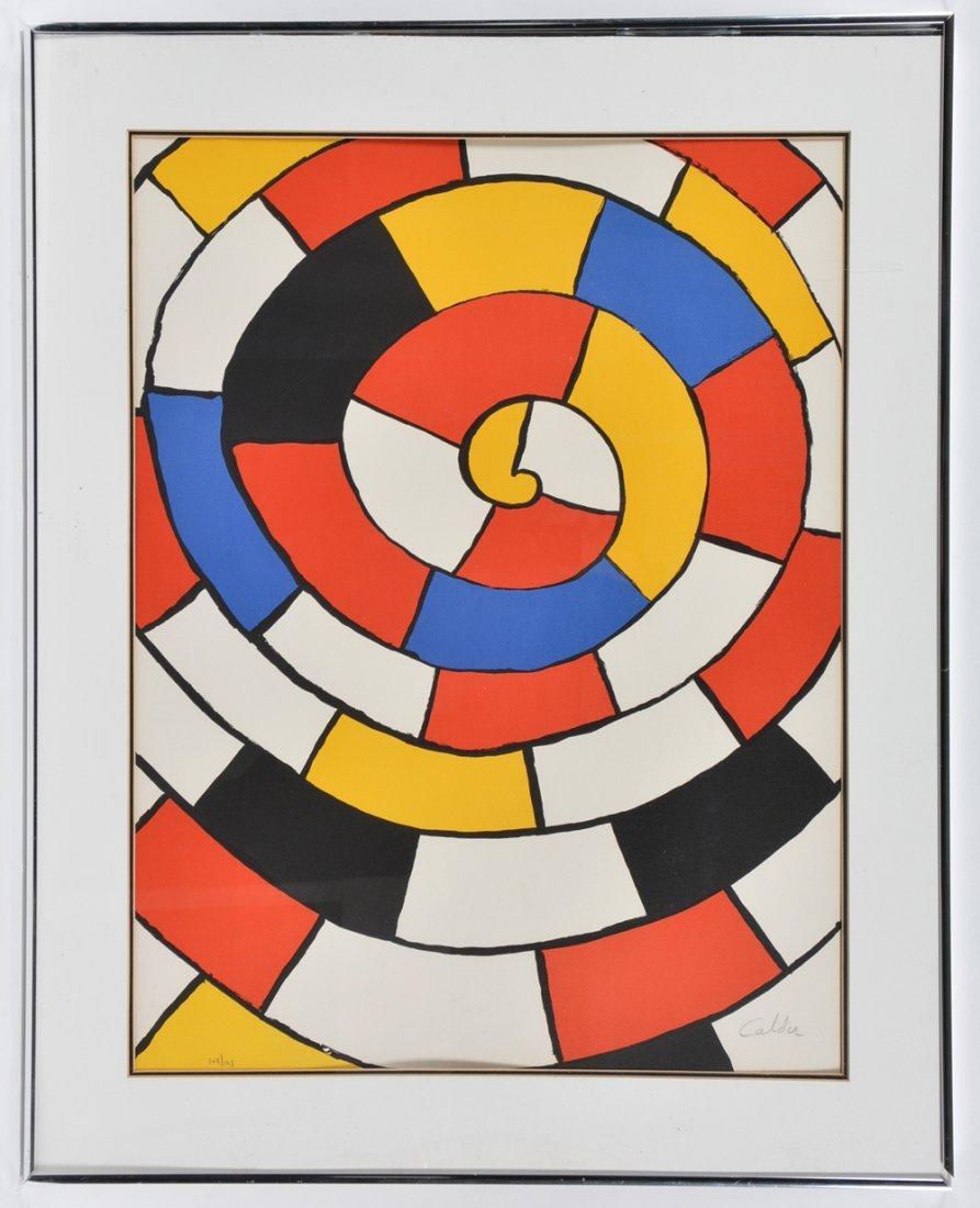 Alexander Calder lithograph, Spiral, signed