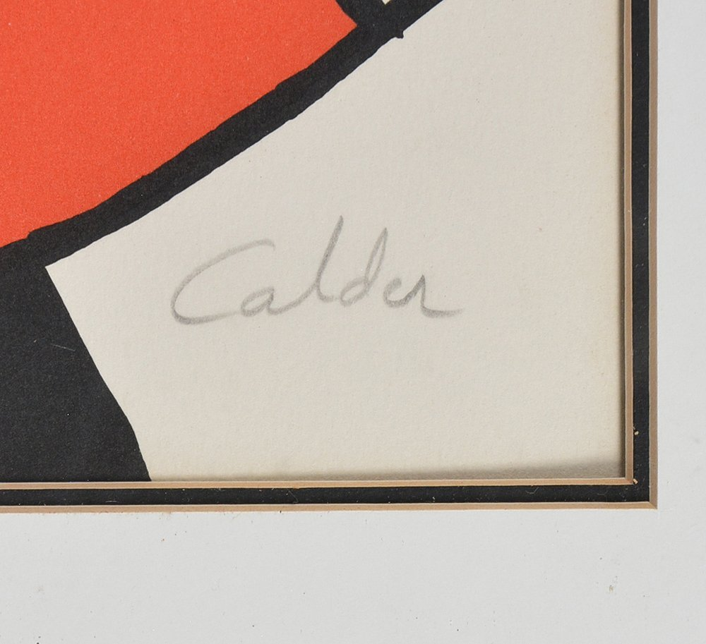 Alexander Calder lithograph, Spiral, signed - 2