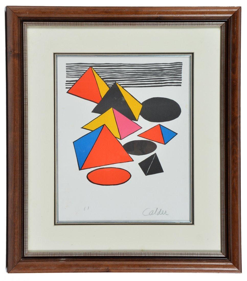 Alexander Calder lithograph, Eternity, signed