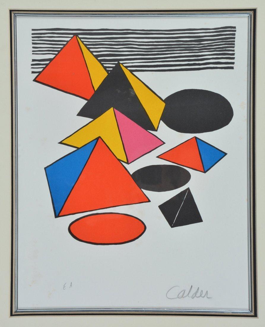 Alexander Calder lithograph, Eternity, signed - 2