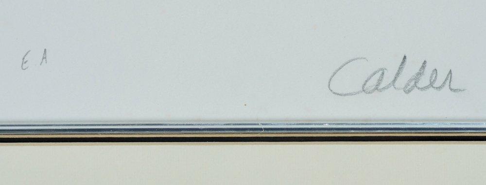 Alexander Calder lithograph, Eternity, signed - 3