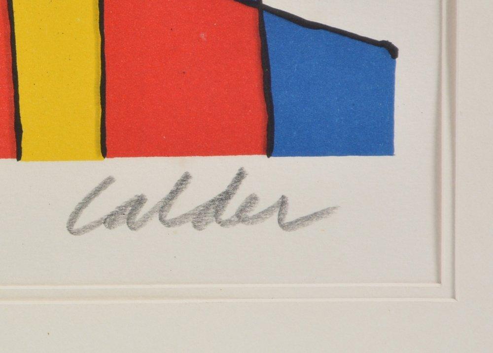 Alexander Calder lithograph, Black Balloons, signed - 3