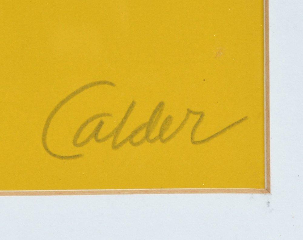 Alexander Calder lithograph, Pyramids, signed - 2