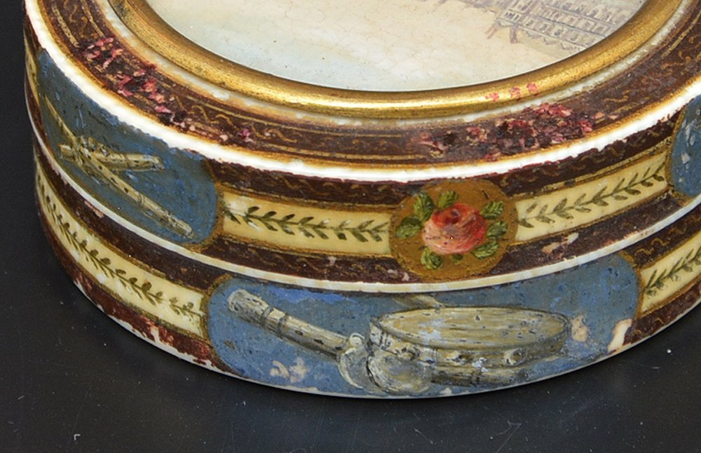 French powder box with Seine river scene, c 1820 - 5