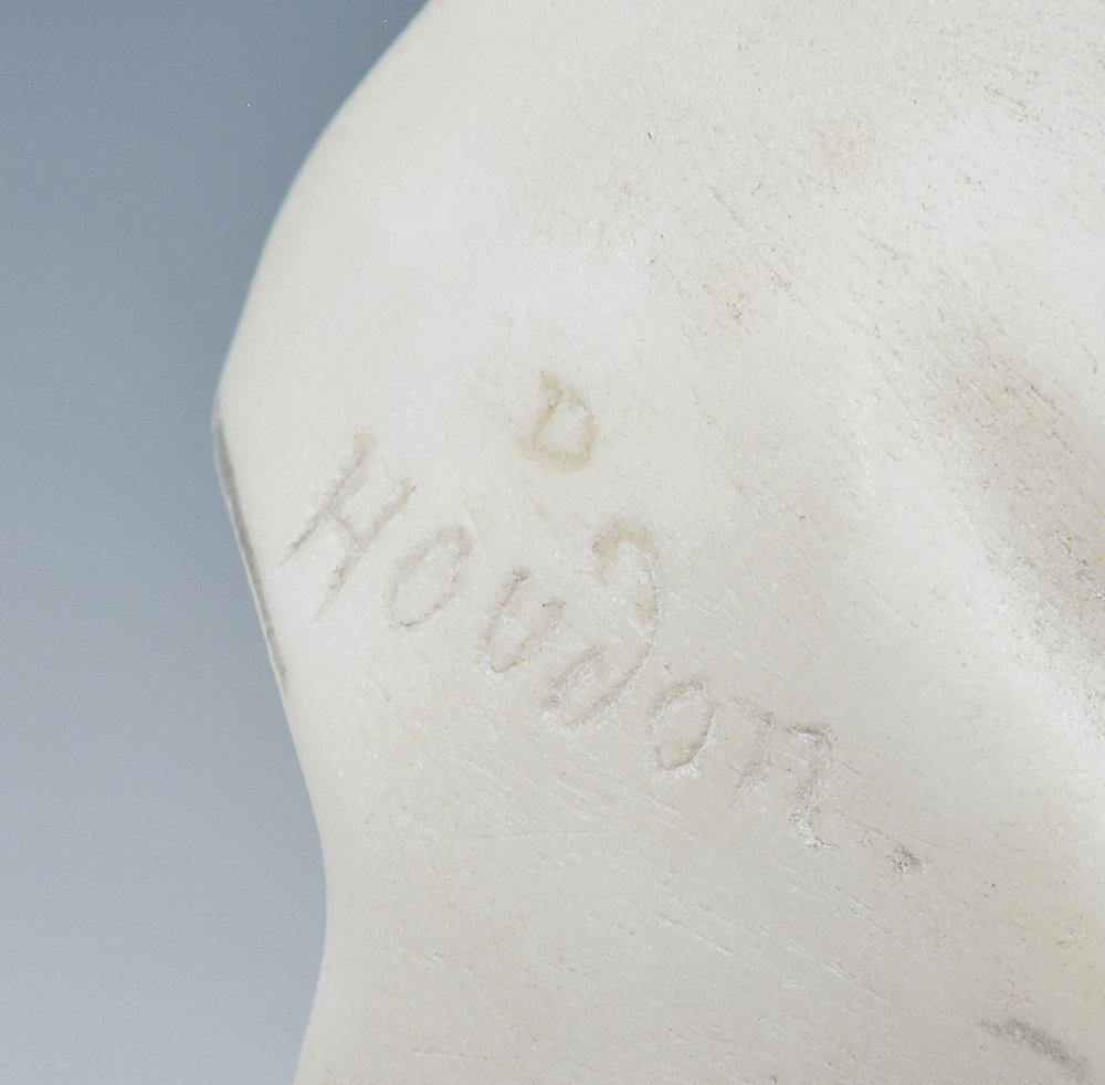 "Marble Bust of Marie Antoinette, signed ""D Houdon"". - 4"