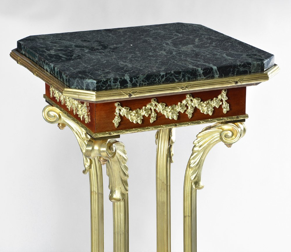 Impressive French Gilt Bronze and Marble Pedestal - 2