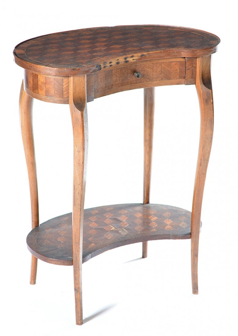 French kidney shape end table, 19th c