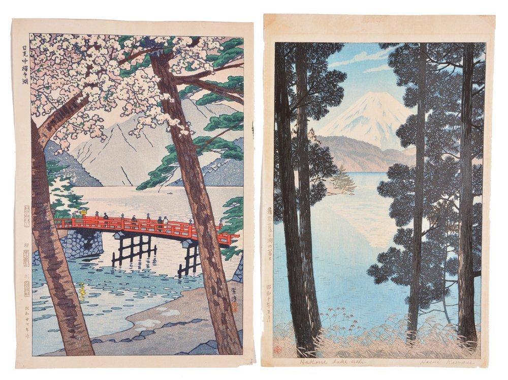 2 Kasamatsu Shiro woodblocks