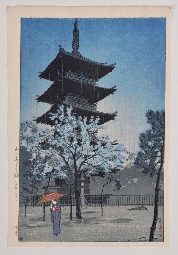 Kasamatsu Shiro woodblock