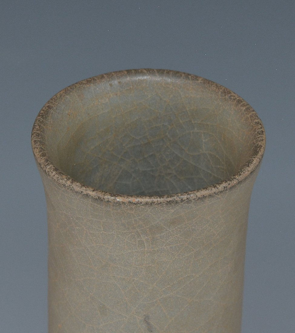 Chinese Lungch'uan Bottle Vase - 3
