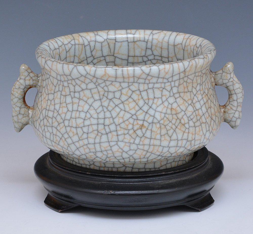 Chinese Crackle Glazed Censer