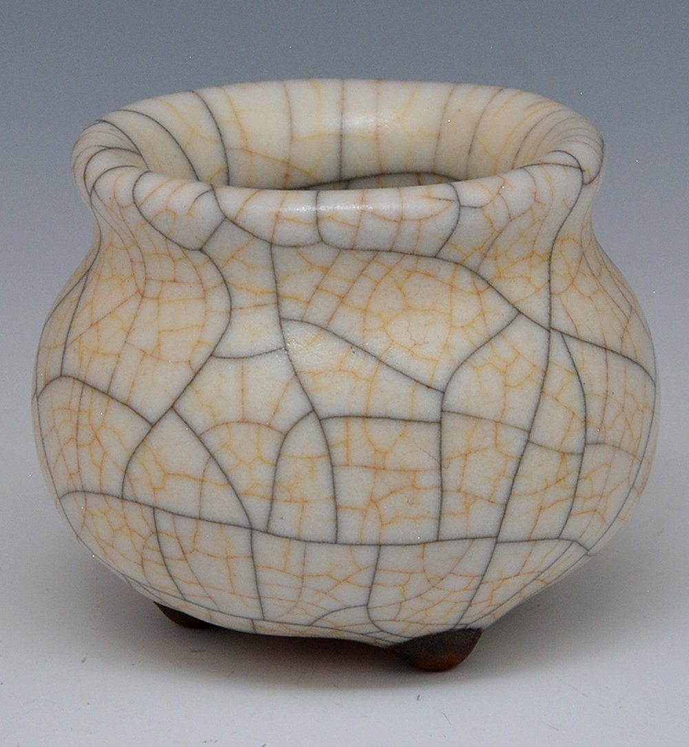 Chinese Crackle Glazed Waterpot - 2