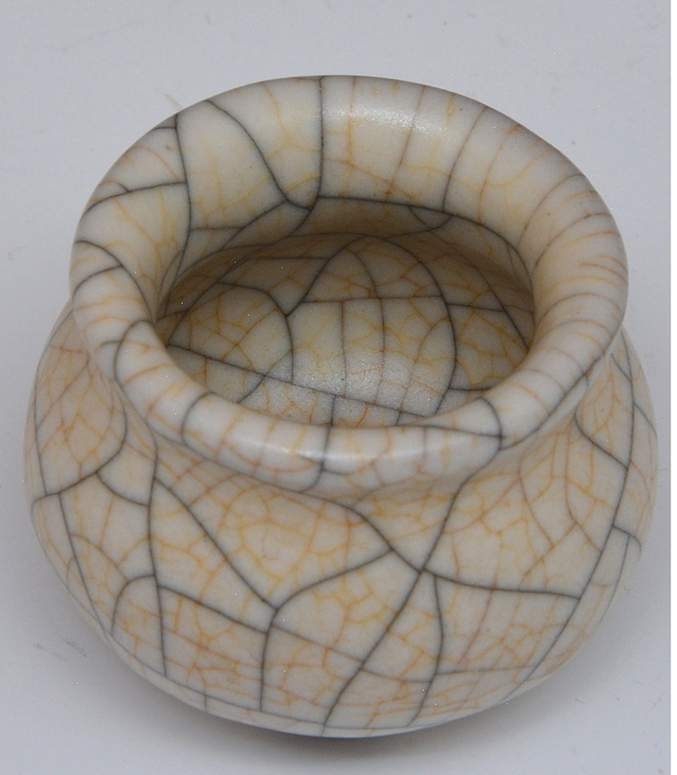 Chinese Crackle Glazed Waterpot - 3