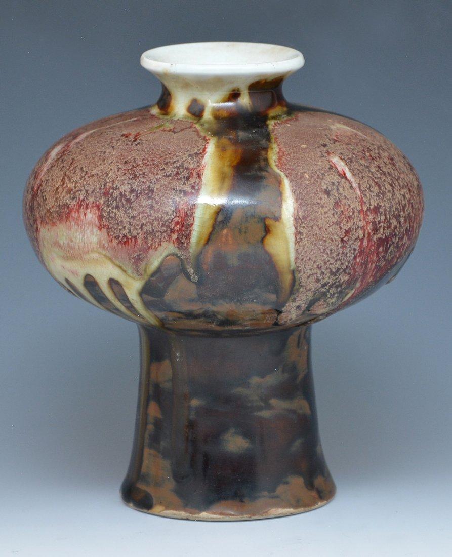 Chinese flambe glazed vase - 2