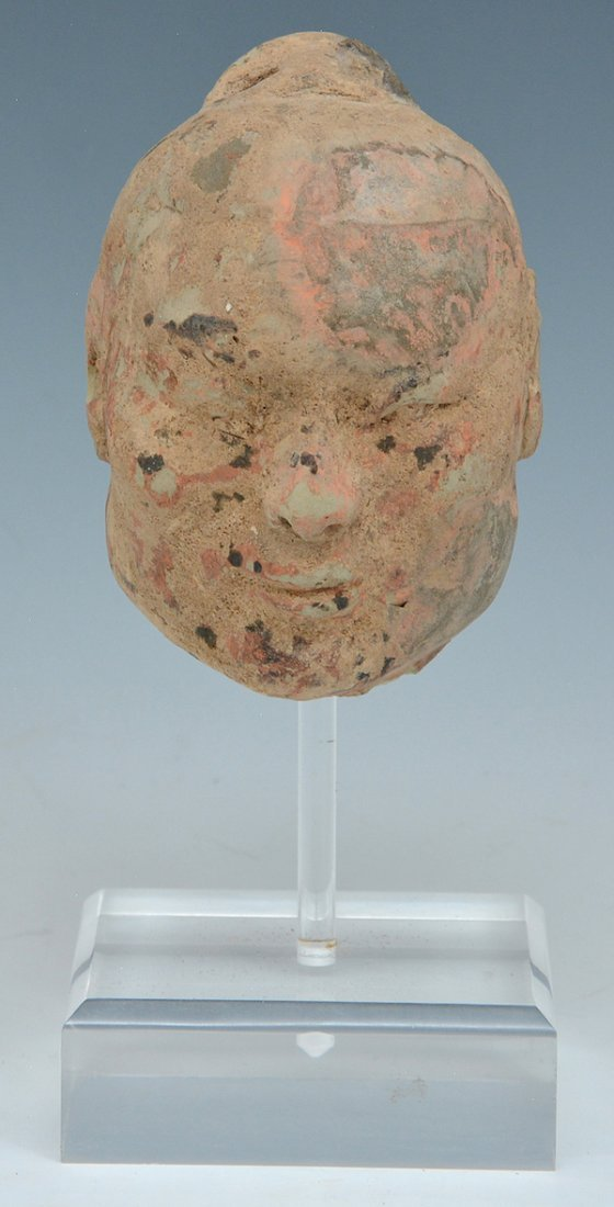 Chinese Han dynasty Ceramic Head