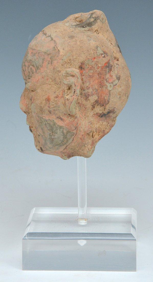 Chinese Han dynasty Ceramic Head - 3