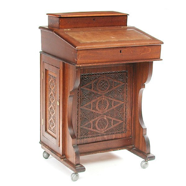 5: 19th. C English Fruitwood Davenport Desk