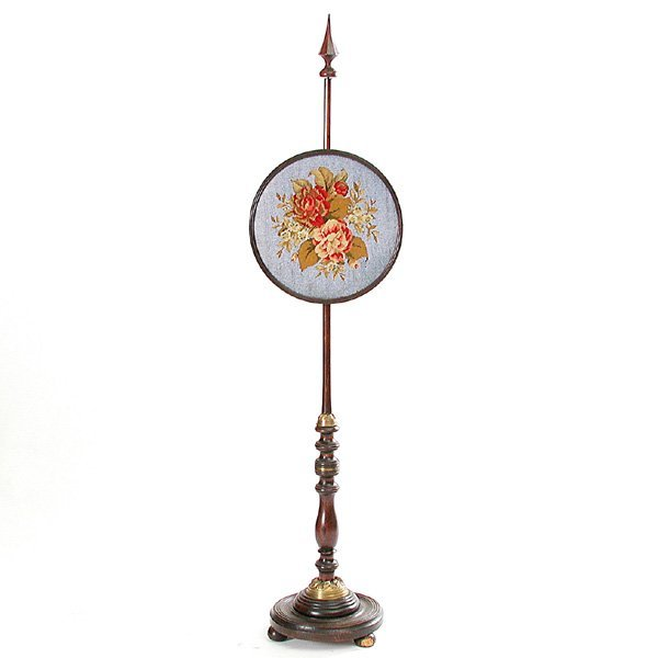 8: Victorian Glass Bead Pole Screen