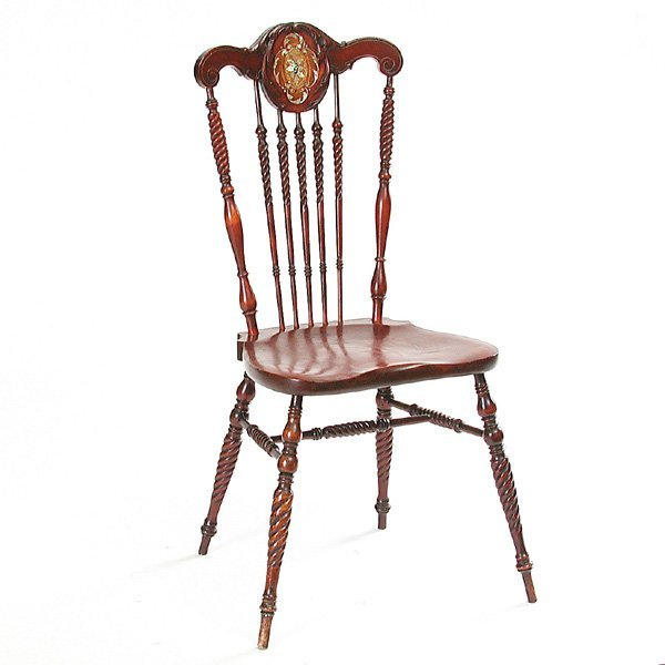 18: 19th C English Cherrywood Music Chair