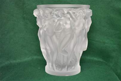 Lalique Bacchantes Art Deco Nudes Vase