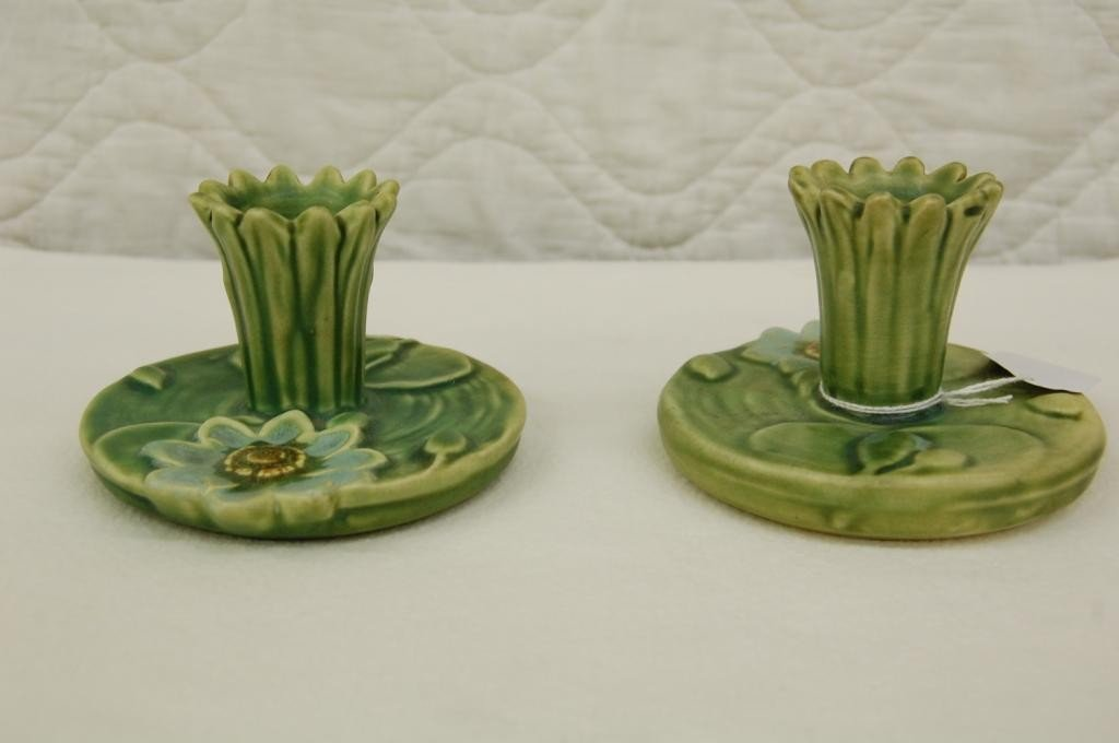 2: WELLER WARE ARDSLEY CANDLE STICKS