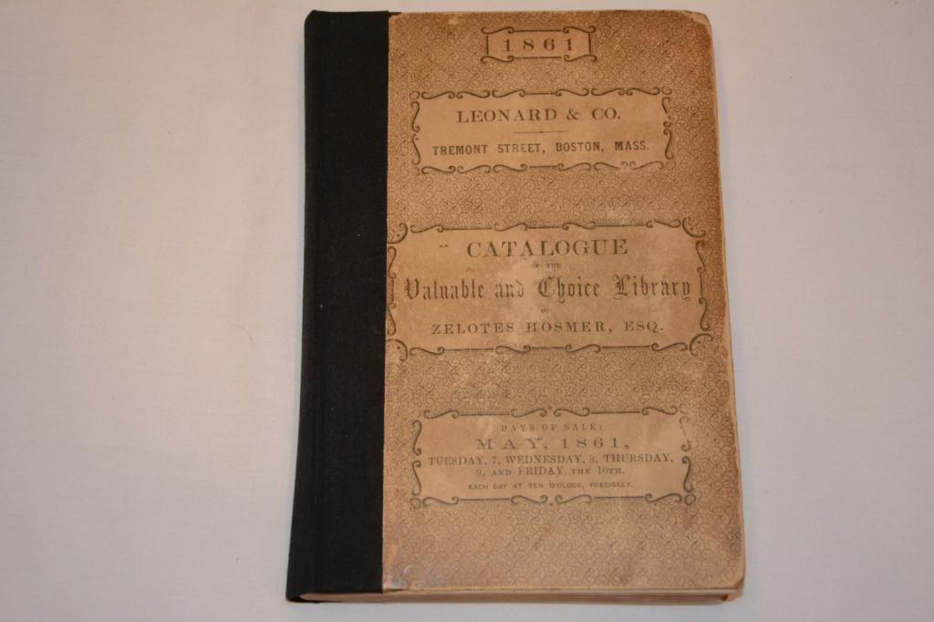 First Edition. Book on Zecotes Hosmer, Esq 1861