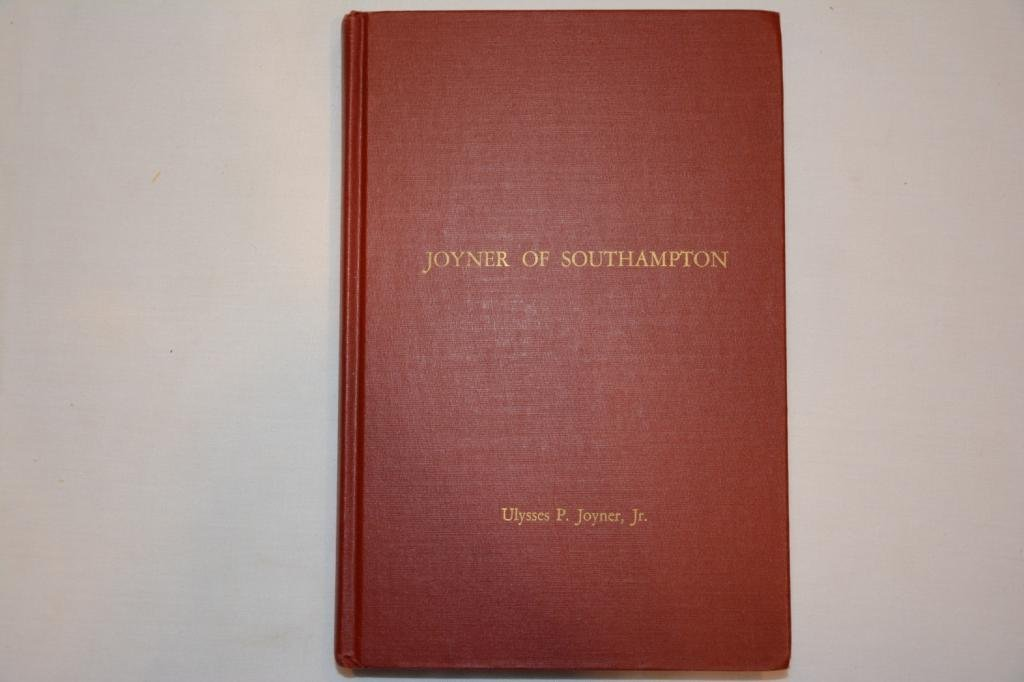 SIGNED. First Edition. Joyner of Southampton