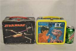 2 Vintage Metal Lunchboxes