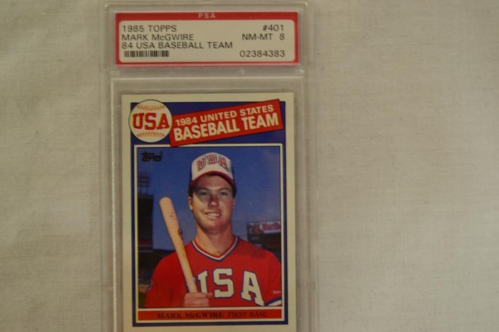Baseball Card PSA Graded 1985 Topps Mark McGwire