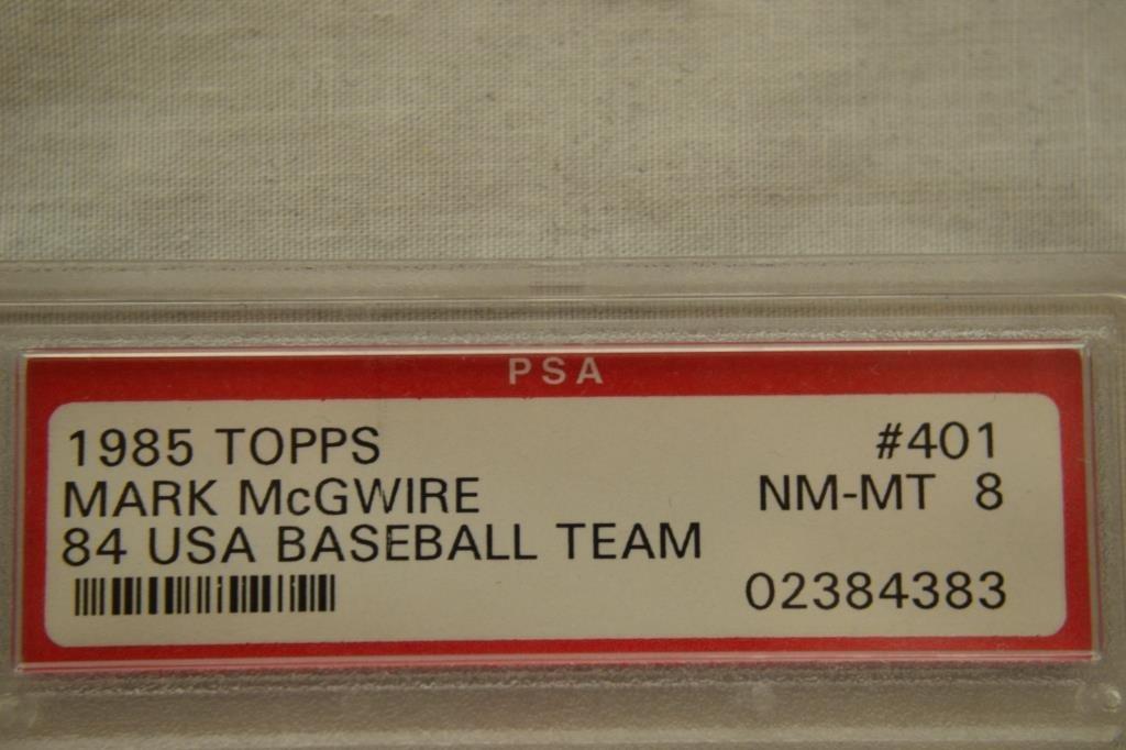 Baseball Card PSA Graded 1985 Topps Mark McGwire - 2